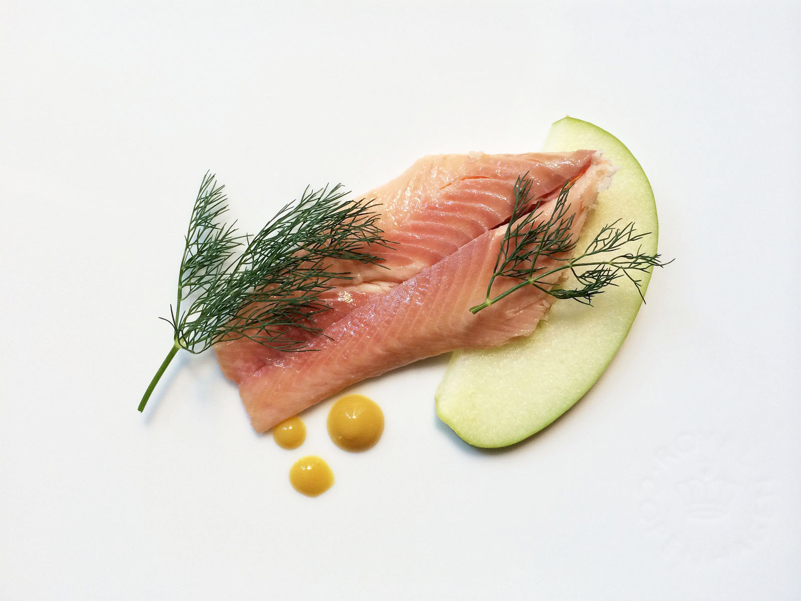 trout with mustard and apple